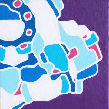 Iteration Blue-Violet 14-01 Painting by artist Andrew Conti