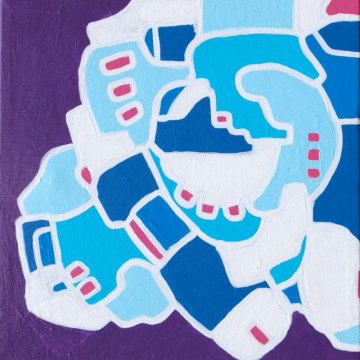 Iteration Blue-Violet 14-02 Painting by artist Andrew Conti