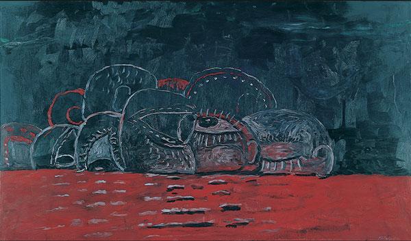 Philip Guston Cabal Cadmium Red