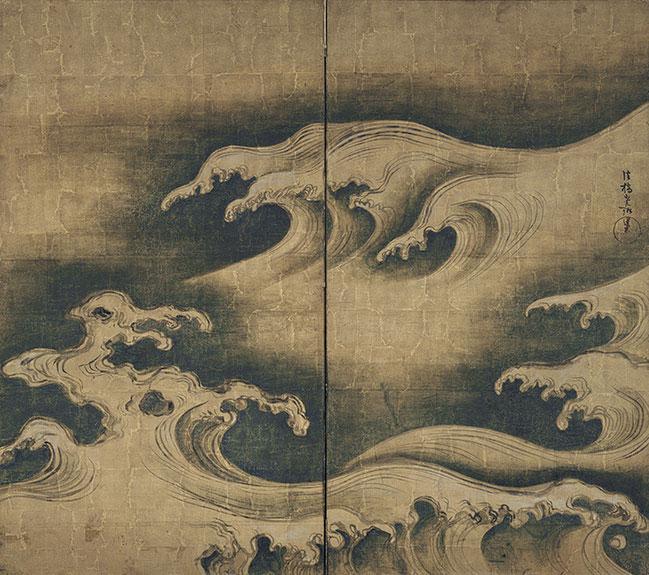 Rough Waves by Ogata Korin