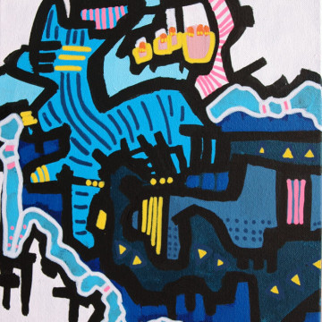 Blue Pink Painting by artist Andrew Conti
