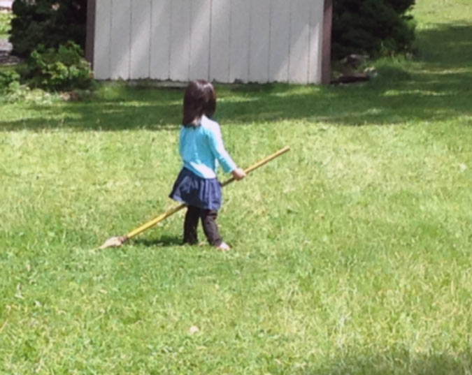 Practicing Broom Flying